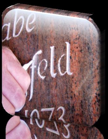 Grabbeschriftung, Zeichen nachschreiben, Grabinschriften renovieren, nachmalen, nachzeichnen,