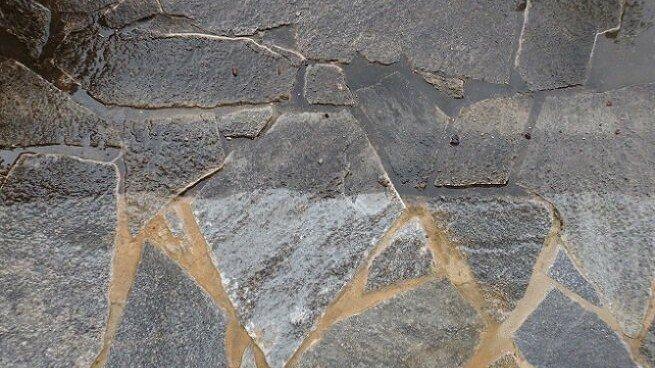 Naturstein vorher nachher Ergebnis der Hochdruckreinigung