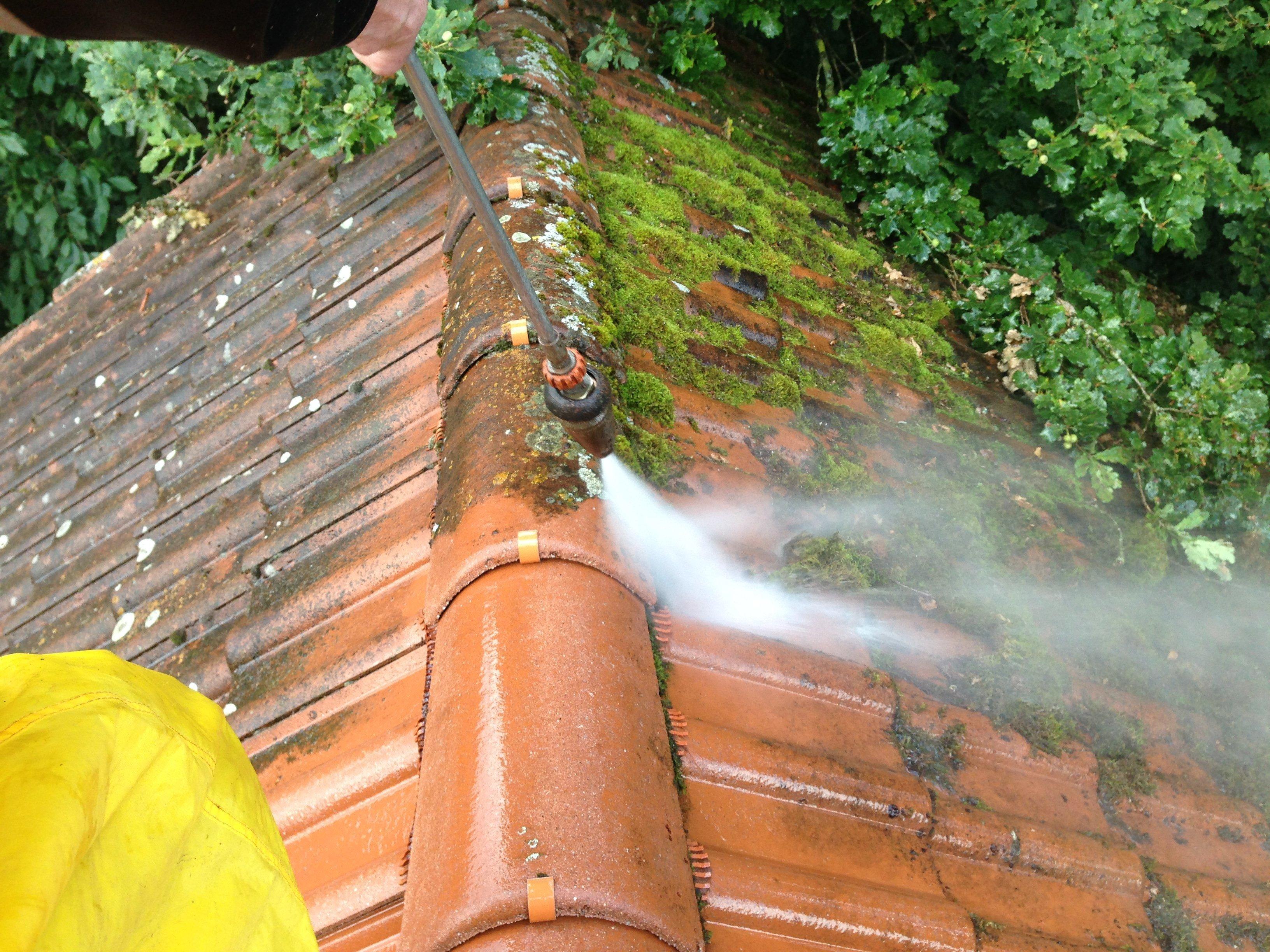Dachreinigung Mit Dachbeschichtung Dachleben Verlängern Steinrein