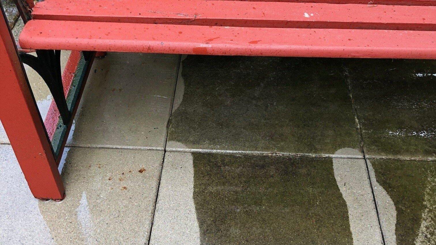 betonsteinreinigung von dach und stein
