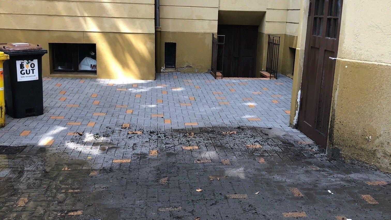 hofreinigung von dach und stein