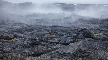 Basanit Vulkangestein
