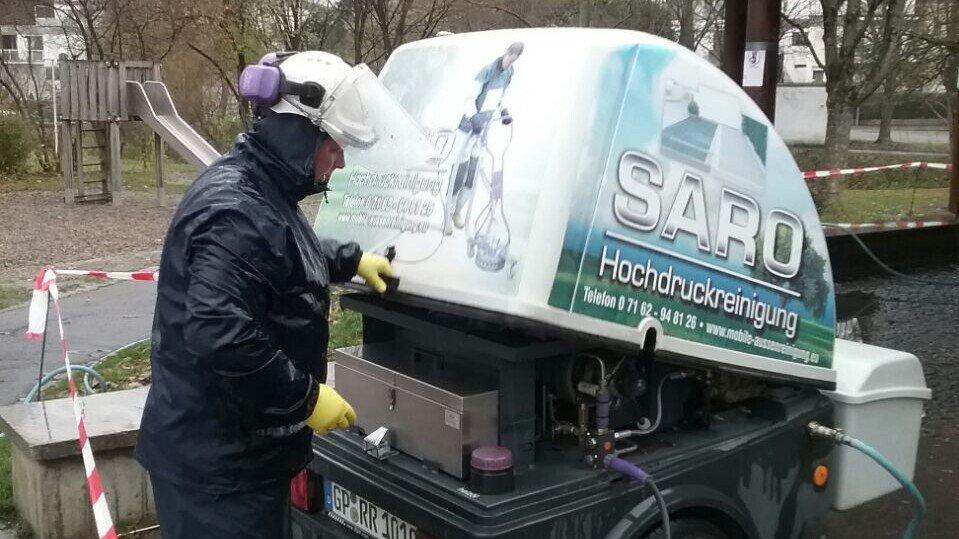 Saro Böblingen Ausstattung der Hochdruckreinigung
