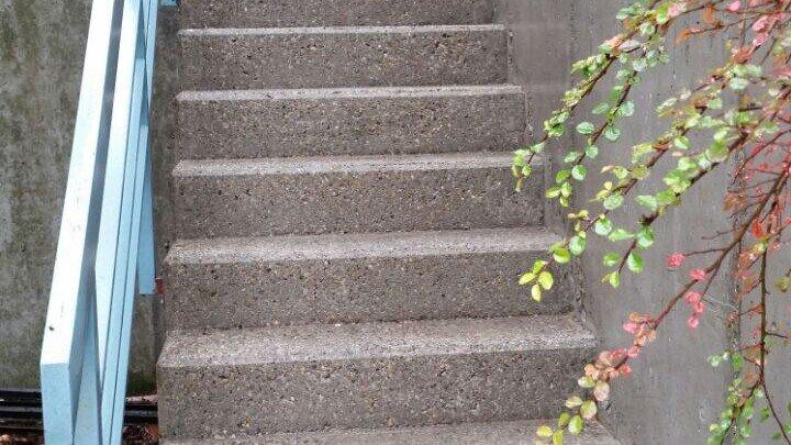 Steintreppe in Stuttgart gereinigt