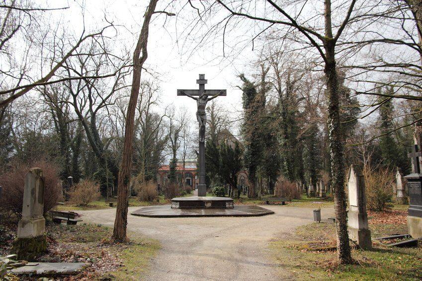 Südfriedhof in München Jesuskreuz